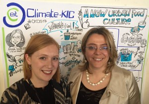 GrowUp Box's Kate Hoffman and Milan's Anna Scavuzzo at Climate-KIC's CIS 2017